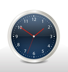 Steel modern clock vector
