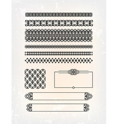 Set of abstract victorian pattern vector