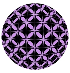 Black and purple mosaic ball vector image