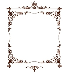 Geraldic royal fleur de lys ornate frame vector