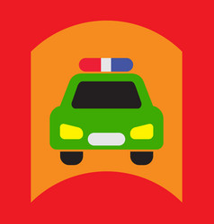Flat icon design collection police car vector