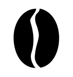 Coffee bean the black color icon vector