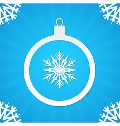 christmas postcard ball 1 vector image