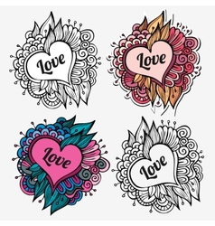 Love special nature labels vector