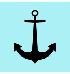 Anchor icon flat vector image