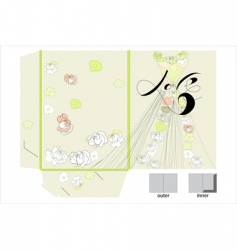 decorative folder vector image
