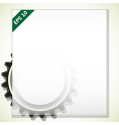 Frame for text with gears vector