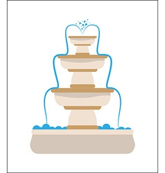 Water fountain design vector