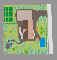 Landscaping area vector
