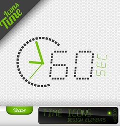 Time icon 60 seconds symbol design elements vector
