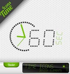 Time Icon 60 Seconds Symbol Design Elements vector image