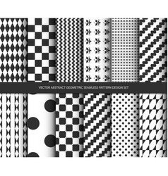 abstract geometric seamless pattern design set vector image vector image