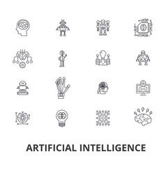 artificial intelligence robot computer brain vector image