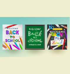 back to school - set of banners vector image vector image