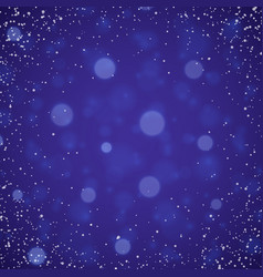 Blue christmas snowflakes background with lights vector