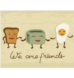 Breakfast Friends vector image vector image