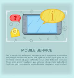 call center concept mobile cartoon style vector image vector image