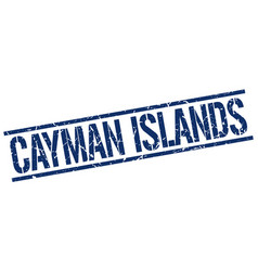 Cayman islands blue square stamp vector