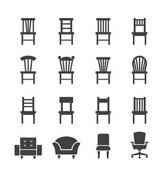 Chair icon vector