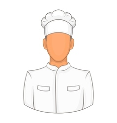 Cook icon in cartoon style vector image