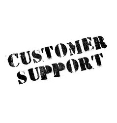 customer support rubber stamp vector image vector image
