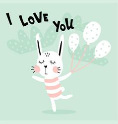 dancing rabbit vector image
