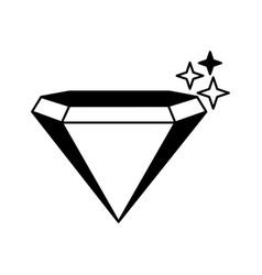 Diamond silhouette isolated icon vector