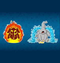elephant angry hes on fire sobs big tears vector image vector image