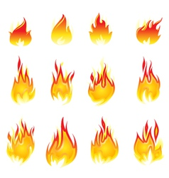 Fire collection vector image vector image
