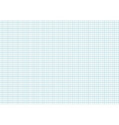 Five millimeters cyan grid on a4 horizontal sheet vector image