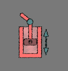 Flat icon design collection pressure in engine in vector