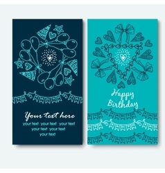 Frame for text happy birthday vector