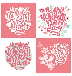 Greeting card happy valentine day vector