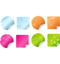 grunge stickers labels vector image vector image