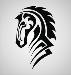Horse tattoo design vector