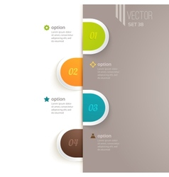 Infographics elements with options and vector image vector image