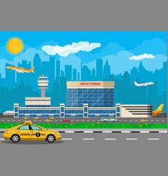 International airport concept vector