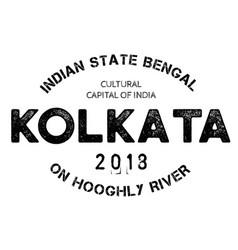 Kolkata typographic stamp vector