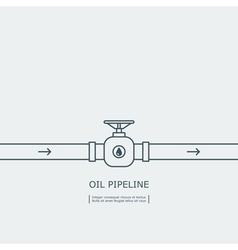 Oil pipeline concept vector