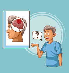 parkinsons disease cartoon vector image