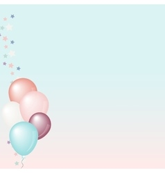Pastel balloons background vector