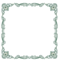 Pattern frame green vector
