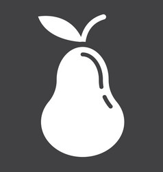 pear solid icon fruit and diet graphic vector image vector image