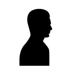 profile side view portrait vector image