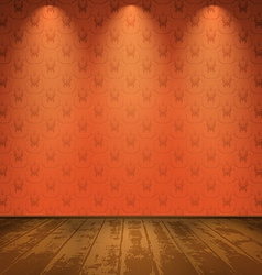 Red room with wooden floor vector image vector image