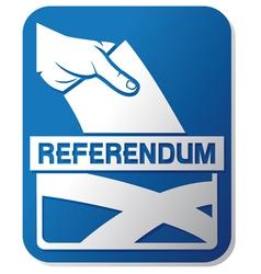 Scottish independence referendum vector image vector image