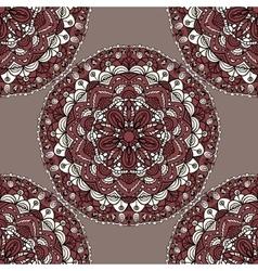 Seamless pattern with mandala circular elements vector image