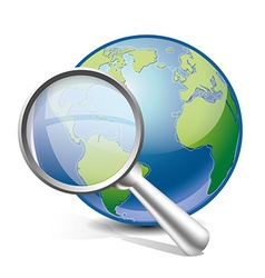 search world vector image vector image