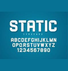 static decorative bold font design vector image