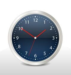 Steel modern clock vector image vector image